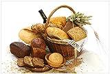 Wallario selbstklebendes Poster - Brot und Brötchen im