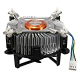 Sutakhi 4Pin 12 V PC Cpu Cooler Ventilador de refrigeración disipador de calor de aluminio para Intel Core 2 Lga Socket 775 a 3.8G E97375 001 ventiladores y refrigeración