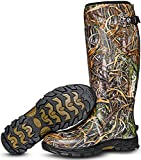 Foxelli Men's Hunting Boots – Waterproof Neoprene & Rubber Insulated Hunting Boots for Men