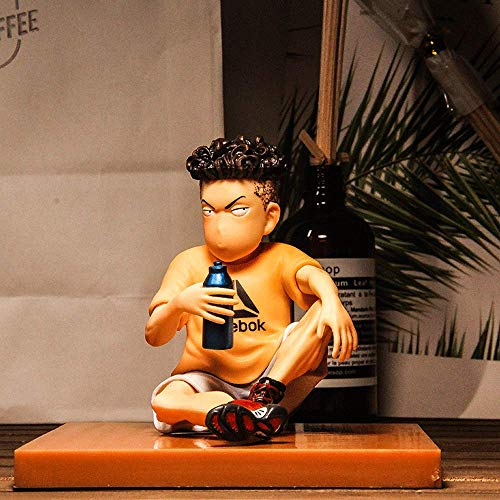 JJRPPFF Figura Ryota Miyagi, Modelo de Personaje Slam Dunk de 4.1 Pulgadas, Estatua de Pose sentada, Guardia Principal de Kanagawa, Material de PVC, Imagen de Anime Boy (para decoración y colección)