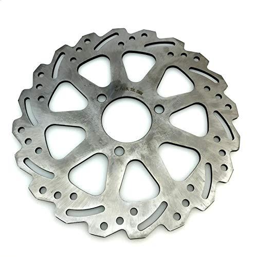 ZMMWDE Universales de 220/260 mm de Acero Inoxidable para Motocicletas, Discos de Freno Delantero y Trasero, Discos de 220 mm
