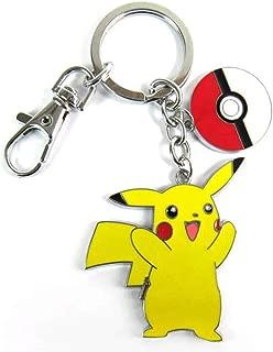 Pikachu with Pokeball Keychain