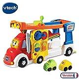 VTech - Tut Tut Bolides - Super camion piste zig-zag - Piste de course + 2 mini voitures