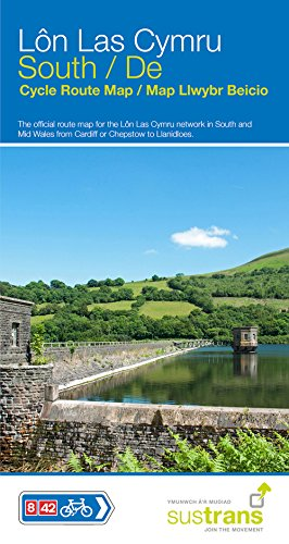 Lon Las Cymru South: The official route map for the Lon Las Cymru network in South and Mid Wales
