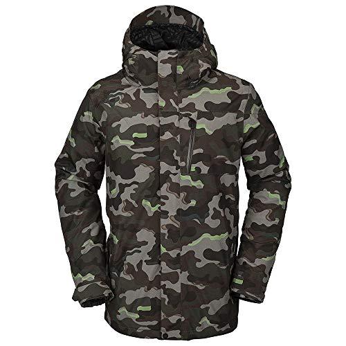 Volcom L Insulated Gore-Tex Jacket, Medium, Army