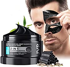 Peel Off Face Mask, JVR Blackhead Remover Mask for Men, Charcoal Peel Off Black Mask, Facial Mask Purifying and Deep Cleansing for All Skin Types 4.23 OZ