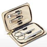 WYFC Conjunto De Manicura - Kit De Aseo De Pedicuras De Manicura De Acero Inoxidable De 6 Piezas para Dedo Y Toe Cuidado De Uñas Scissors Clipper 3.7in (Color : Blue)