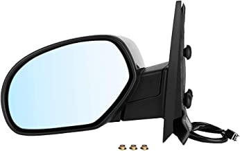 Qiilu Automatic Folding Power Heated Turn Signal Side Mirror Towing Mirror Compatible with Chevrolet/GMC 2007-2014