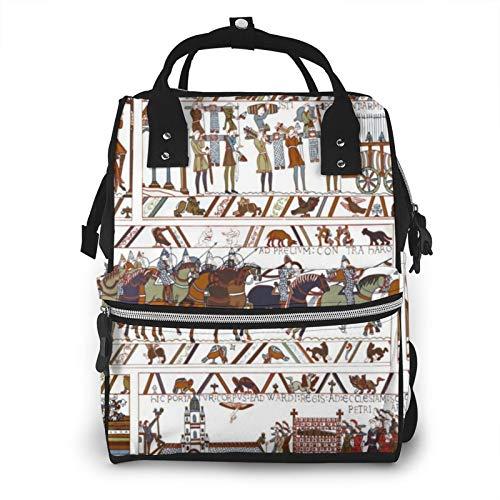 Bayeux Tapiz Kendra Impermeable Multifunción Pañal Bolsa de Viaje Mochila Bebé Cuidado Pañal Bolsas de Pañales, Gran capacidad, elegante y duradero