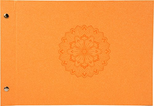 Exacompta 60046E Mandala Album Photos à Vis 40 Pages Noires Orange 32 x 22 cm