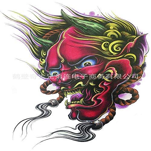 tzxdbh 5Pcs-New Tattoo Aufkleber wasserdicht dauerhafte Europa und Amerika, Fledermaus Sichel großes Bild Blume Arm Tod Tattoo Aufkleber halben Arm 457