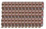 tesa - Cinta adhesiva (66 m x 50 mm, 72 rollos), color marrón