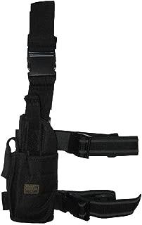 Left Handed Tornado Tactical Army SWAT Black Pistol Hand Gun Drop Leg Holster