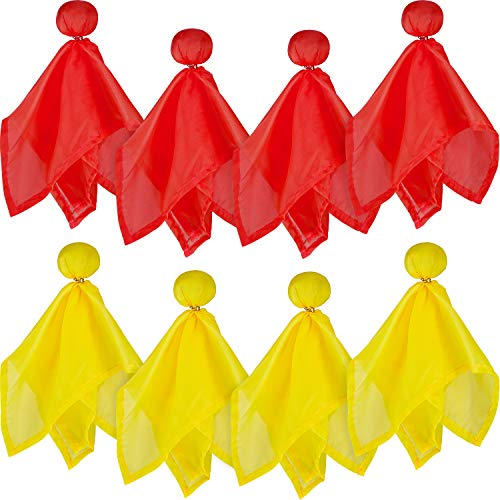 8 Pieces Penalty Flag Football Challenge Flags Football Referee Flag for Party Accessory (Yellow and red)