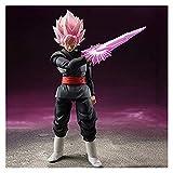 LIQIN Dragon Ball Z Goku Rose Black Zamasu PVC Anime Figura Figura Modelo Juguete Adornos Muñecas So...