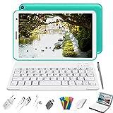 Tablet 8 Pulgadas Baratas y Buenas, 2 in 1 Tablet con Teclado 3GB de RAM y 32 GB de Memoria Escalable 128GB, 4G WiFi Tableta Android 10 Tablet PC 1.6GHz / Bluetooth/OTG/Ratón/Quad-Core (Verde)