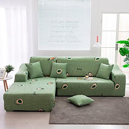ASCV Funda de sofá elástica Antipolvo seccional en Forma de L de Esquina Funda de sofá de Envoltura Ajustada Funda de sofá para Mascotas A8 4 plazas