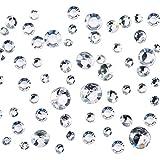 5800 Piezas de Cristales de Boda Transparentes 4 Tamaños Confeti de Mesa Decoración Diamantes de Acrílico para Mesas de Fiesta de Cumpleaños Fiesta de Bienvenido a Bebé