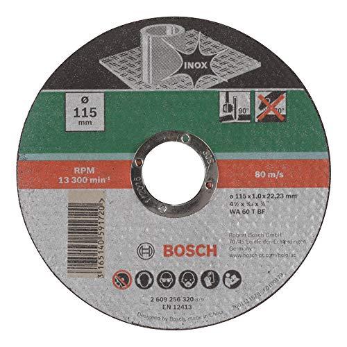 Bosch 2609256320 DIY Trennscheibe Inox 115 mm ø x 1,0 mm gerade