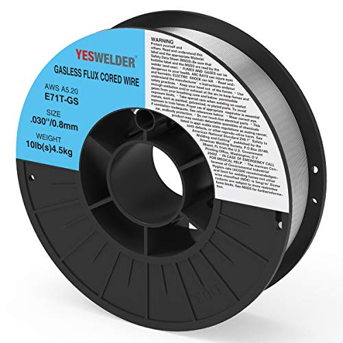 YESWELDER Flux Core Mig Wire, Mild Steel E71TGS.030-Diameter, 10-Pound Spool