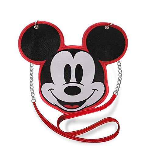 KARACTERMANIA Diseny Icons Mickey Mouse-Bolso Cadena Slim, Rojo, 20cm