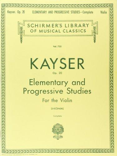 36 Elementary and Progressive Studies, Op. 20 (Complete): Violin Method (Schirmer's Library of Musical Classics)