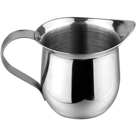 New Stainless Steel Coffee Shop Small Milk Cream Waist Shape Cup Jug 5OZ  #Z