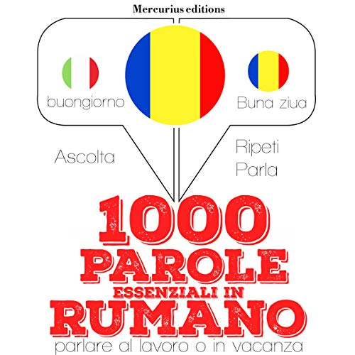 1000 parole essenziali in Rumeno audiobook cover art