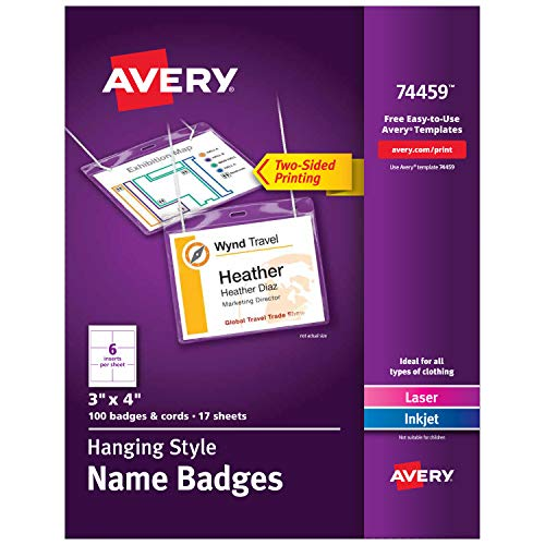 Top hanging name badges for 2021