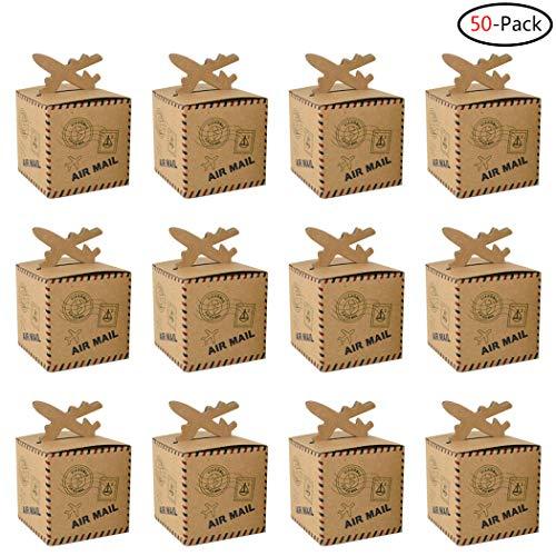 Faylapa Reise-Koffer, Süßigkeiten-Boxen 50Pcs Air Mail Boxes 50 Luft-Briefkästen