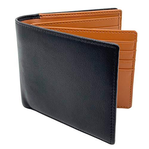 VECHOO 本革 大容量 二つ折り財布 メンズ レザー 小銭入れ 取り外し可能なカードケース コインカード16枚収納 ウォレット