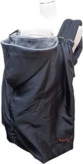 日本エイテックス ユグノー ポケッタブル2WAYケープ 抱っこひもとベビーカーで使える 防寒ケープ コンパクトタイプ ブラック 0か月~ 01-115