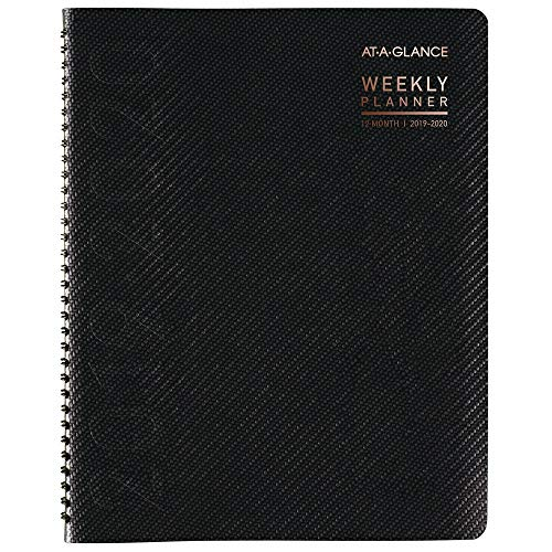 "AT-A-GLANCE 2019-2020 Academic Year Weekly & Monthly Planner / Appointment Book, Large, 8-1/4"" x 11"", Contempo, Charcoal (70957X45)"