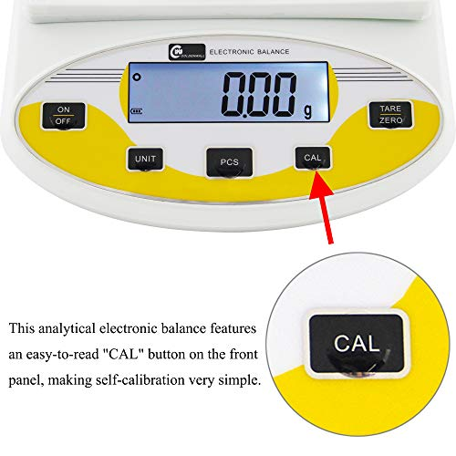 CGOLDENWALL Precision Lab Scale 200gX0.01g Analytical Electronic Balance Digital Laboratory Scale Precision Jewelry Scales Kitchen Precision Weighing Electronic Scales 0.01g Calibrated (200g, 0.01g)