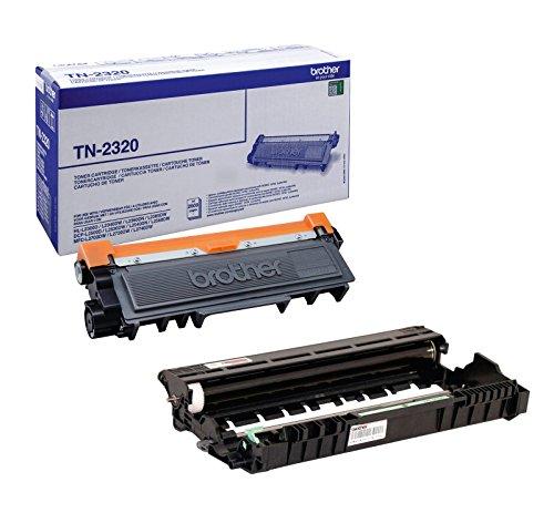 1x Set Original Brother Toner TN2320 + Trommel DR2300 für Brother DCP-L 2520 DW - BLACK- Leistung ca. 2600 / 12000 Seiten bei 5% Seitenabdeckung