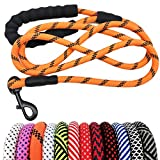 MayPaw Heavy Duty Rope Dog Leash 6Ft, 1/2' Thick Nylon Pet Training Leash, Soft Padded Handle Lead...