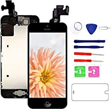 Screen Replacement for iPhone 5c, Fully Pre-Assembled LCD Display and Touch Screen Digitizer Replacement with Proximity Sensor, Earspeaker and Front Camera, Repair Tools and Screen Protector