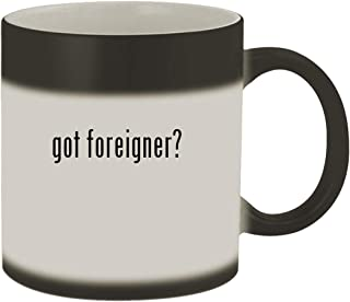 got foreigner? - Ceramic Matte Black Color Changing Mug, Matte Black