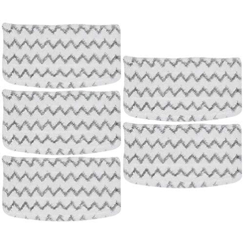 Baluue 5 Piezas de Almohadillas de Mopa de Vapor de Repuesto Lavable Reutilizable Almohadillas de Mopa de Vapor de Repuesto Almohadillas de Plumero Cubiertas Compatibles con La Mopa de