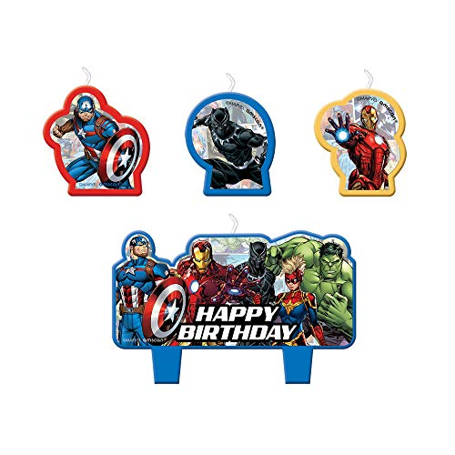 Marvel Avengers Powers Unite Superhero Birthday Candles Kit - 4 pcs
