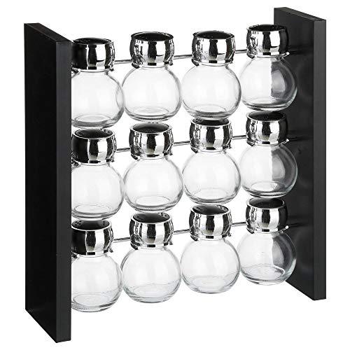 Présentoir à épices rotatif 12 pots en verre