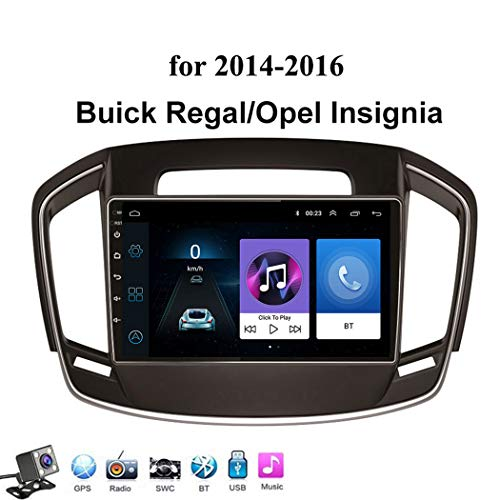 Android 8.1 GPS Navegación del Coche Estéreo para Opel Insignia/Buick Regal 2014-2016, con 9 Pulgada Pantalla, Soporte Reproductor Multimedia/Control del Volante/Mirror Link,4g+WiFi: 1+16gb
