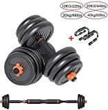 LCNING Dumbbell Set Gym Bicep Weight Training Large Dumb Bells Barbell Strength Weight 10KG 20Kg 30GK 40KG Adjustable Body Building,Gym Work Out Training (Color : 5KG/11lbs)
