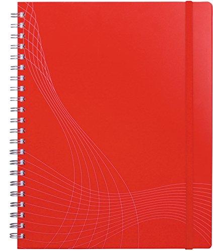Avery Dennison 7035 Notizio - Cuaderno con tapas de plástico (gusanillo doble, hoja cuadriculada, A4, 90 g/m2, 90 páginas), color rojo