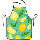 Katrine Store Limón Patrón Limonada Exótica Fruta jugosa Amarilla Delantal...