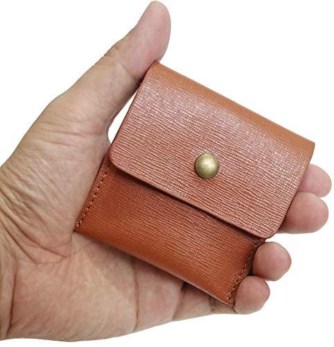 携帯灰皿 吸い殻入れ Ash Tray ソフトレザー PU 革 レザー ポケット 手のひらサイズ コンパクト ポータブル エチケット アッシュトレイ (BROWN)