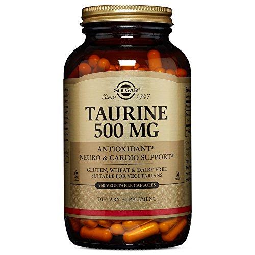 Solgar Taurine 500 mg, 250 Vegetable Capsules