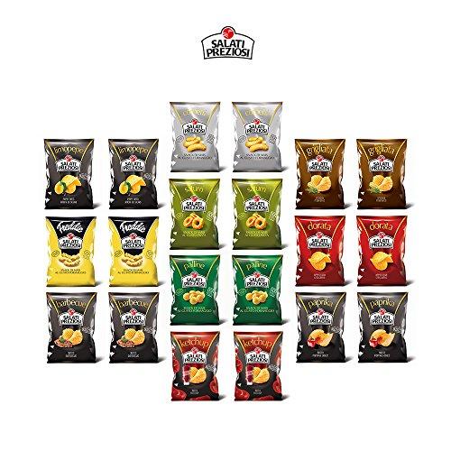 Cartone Gran Selezione Salati Preziosi chips di mais e patate