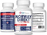 Norway Direkt Omega-3 Fish Oil 3,000mg Fish Oil Concentrate   1060mg EPA, 740mg DHA (2 Soft-Gel Serving) Pharmaceutical Grade (180 Softgels)