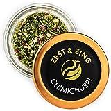 Zest & Zing Chimichurri Steak Rub (Grueso), 10G Spice Jar - Especias Bbq De Zest & Zing. Tarros De Especias Más Frescos, Convenientes Y Apilables. 114 g
